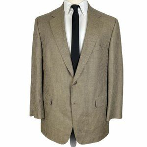 Brooks Brothers 346 Sport Coat 43R Beige Black